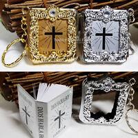Bible Keychains First Communion Favors Baptism Recuerdos Bautizo Comunion 24 pc
