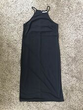 MNG Suit Sexy Black Dress VERY HIGH Side Slits Size XS