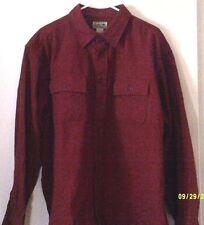 L.L. BEAN Mens Shirt Long Sleeve sz Med. Burgundy Heavy Cotton Size XL RN71341