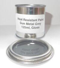 125ml GUN METAL GREY Gloss Heat Resistant Paint, Engine Caliper Metal Body