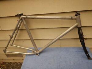 "20"" Vintage Trek Aluminum Mountain Bike Frameset Polished Aluminum with Fork"