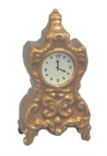 Dolls House Miniature   Gold coloured  Clock     12th scale