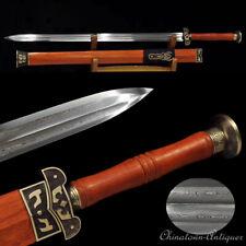 Han Adviser Zhangliang Walking Sword Pattern Steel Blood Groove Blade Sharp#1390