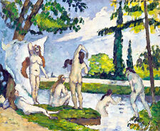 Bathers II by Paul Cezanne A2+ High Quality Art Print