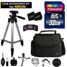 32GB ACCESSORIES Kit for Nikon Coolpix L310 w/ 64GB Memory + Case + Bts + MORE