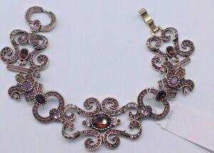 Heidi Daus, Georgian Lace bracelet Pink & purple crystal Bracelet
