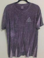 HUF 100% cotton acid wash graphic t shirt size large L
