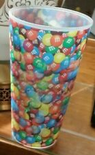Plastic M & Ms CANDY FLICKER CUP GLASS TUMBLER