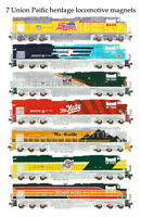 Union Pacific Heritage Locomotives 7 magnets Andy Fletcher
