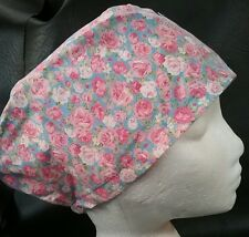 VINTAGE ROSES BLUE theatre hat medical hospital scrub cap odp doctor nurse vet