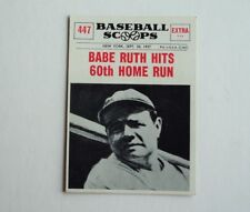 1961 Nu-card Scoops 447 Babe Ruth Hits 60 Hr's -  NRMINT