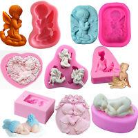 Angel baby Silicone Fondant Mold Mould Chocolate SOAP Candy Cake Decor BakingDIY