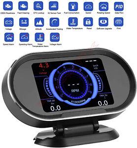 Car HUD Head Up Display Digital GPS Smart Speedometer OBD scanner