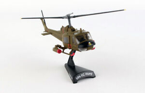 Postage Stamp 5601 UH-1C US Army Huey Gunship 1/87 Scale Diecast Model