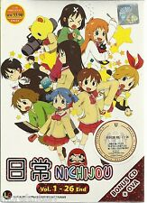 DVD Nichijou  Tv 1-26end   + Bonus Anime DVD+ Free Tracking
