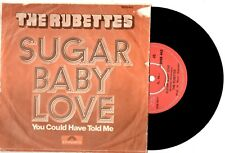 """RUBETTES - SUGAR BABY LOVE/YOU COULD HAVE - TURKISH 7""""45 VINYL RECORD PICSLV '74"""