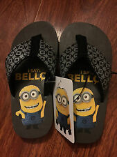 DESPICABLE ME MINION SANDALS FLIP FLOPS THONGS SHOES sz10 AUTHENTIC *NEW* SALE!