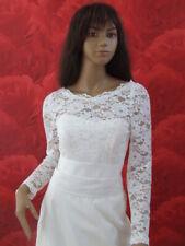 NEW Ivory Lace Bolero Shrug Wedding Jacket Long Sleeve - Various Sizes - K33