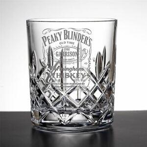 Garrison Birmingham Whiskey Peaky Blinders Inspired Cut Crystal Whisky Glass