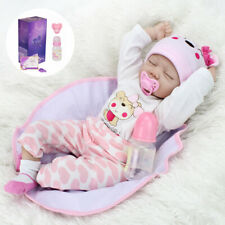"Real Lifelike 22"" Handmade Reborn Baby Dolls Sleeping Girl Newborn Babies Gifts"