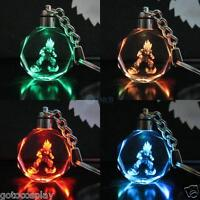 1 Lot/10pcs Dragon Ball Dragonball Z Saiyajin Goku Crystal Key Chain LED Pendant