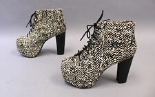 Jeffrey Campbell Women's Animal-Print Lita-Fur Booties MC7 Multi-Color Size 10M