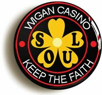 WIGAN CASINO KEEP THE FAITH FLOWER NORTHERN SOUL BADGE BUTTON PIN (1inch/25mm)