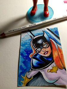 Batgirl (Cosmotrama AP Sketch card) 1/1 original art by Diego Carneiro - Fanart