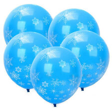 Balloons 12pcs Christmas Latex Party Layout Supplies Decor Frozen Snowflake Hot