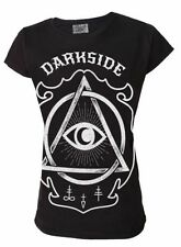 Cotton Crew Neck Graphic Gothic T-Shirts for Women