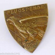 Weimarer Republik Messingblech Abzeichen --Flugspende 1922--
