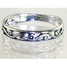 "BALI_FILIGREE ""S""  SWIRL VINE BAND STACK RING _ Sz-7__925 Sterling Silver"