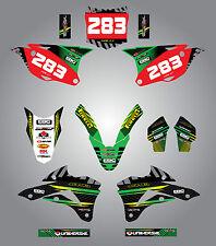 2014 - 2017 Kawasaki KX 85 Full custom graphics kit Factory Style sticker kit