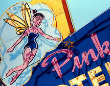 Pink Motel Fairy Neon Sign Hand Colored Photo Art Fairies Tinkerbel Disney