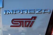 "NEW Genuine OEM Subaru STi Rear Badge Set  ""Impreza STi"" 2011 WRX STi NR"