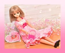 ��Vtg 1981 Takara Japan Jenny Fairy Field Bob Hair Green Eyes Dress Licca Rika��