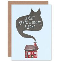 Home Cat House Smoke Blank Greeting Card With Envelope