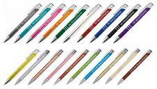 20 Kugelschreiber aus Metall mit Gravur / 20 verschiedene Farben