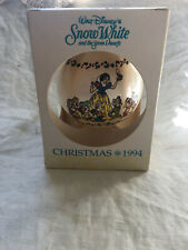 1994 Schmid Disney's SNOW WHITE and SEVEN DWARFS Christmas Ornament  with Box