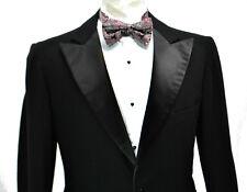 Hart Schaffner Marx 1930's vtg Tuxedo Jacket 36R Flannel Dinner Peak Lapel 30s