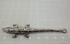 "Stainless Steel ALLIGATOR Link Bracelet 8"" 66.8Grams"