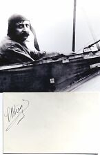 Louis Bleriot French Aviation Pioneer Record Holder Autograph Signed Card 'Rare'