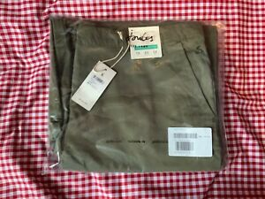 JOULES WOMENS COMPTON WIDE LEG CROPPED CHINOS TROUSERS - GRAPE LEAF - SIZE 18
