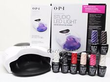 OPI GelColor STUDIO LED LIGHT Lamp GL901 + Base +Top Coat + 6 ANY Colors SET KIT