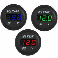 DC 12V-24V Car Motorcycle LED Panel Digital Voltage Display US Voltmeter New