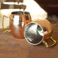 500/530ml Moscow Mule Mug Cup Hammered Stainless Steel for Home Kitchen Bar NEW