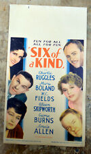 Vintage 1934 Six of a Kind Movie Lobby Display Card Original