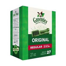 Greenies Original Regular Size 27 count 27 oz | Dental Chew Treats for Dogs