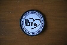 Embroidered Woven Badge (GreenLife) 65mm diameter