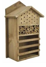 Insect Habitat Tower Hotel Wooden Natural Bee Nest Butterfly Bug Ladybird House
